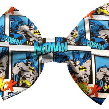 Batman Comic Book Hair Bow