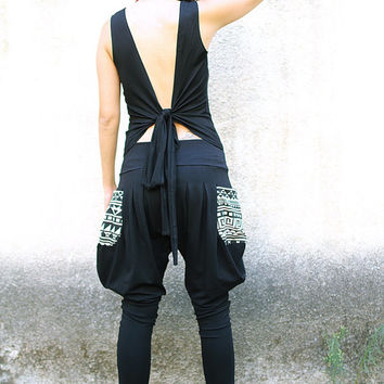 Backless Wrap Top, Open back bohemian top