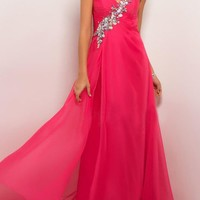 Fabulous Fuchsia A-line Sweetheart Sweep Train Prom Dress from SinoSpecial