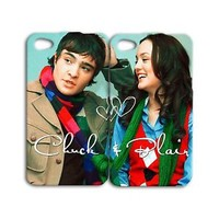 Gf Bf Cute Couple Phone Case Blair Chuck Bass iPhone iPod Tv Show Cover Girl