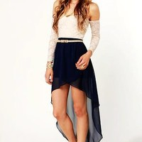 Hot Lace High Low Dress for Girls