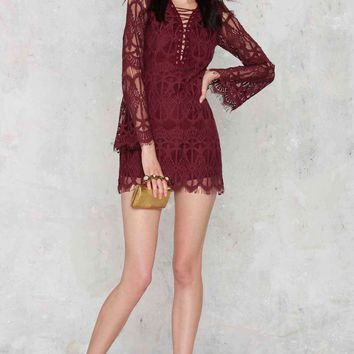 Glamorous Lace The Consequences Midi Dress