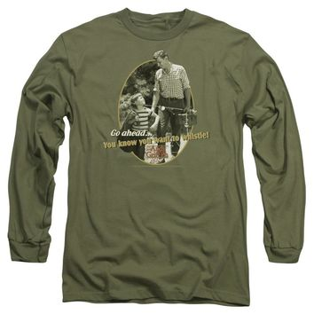 Andy Griffith Show Long Sleeve T-Shirt Gone Fishing Military