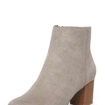 Grey 'A-lister' Heeled Boots - View All Clothing & Shoes - Clothing