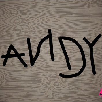 toy story andy's signature vinyl decal sticker, free shipping!