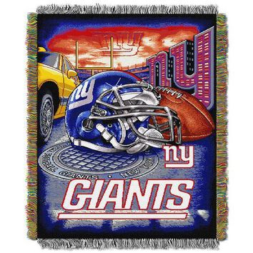 """New York Giants NFL Woven Tapestry Throw (Home Field Advantage) (48x60"""")"""""""