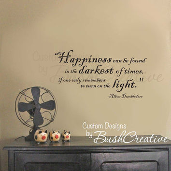 Superieur Wall Decal Harry Potter Happiness Quote By Dumbledore 012 28