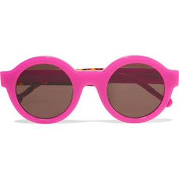 Preen by Thornton Bregazzi Big Ben neon round-frame acetate sunglasses – 50% at THE OUTNET.COM