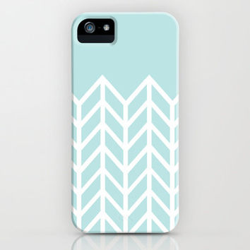 TIFFANY CHEVRON iPhone Case by nataliesales