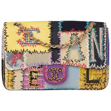 Chanel Multicolour Patchwork Multi-Fabric Jumbo Flap Bag