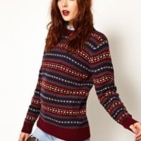 Pop Boutique Fairisle Knitted Jumper at asos.com