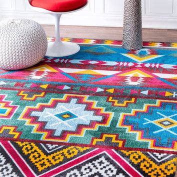 nuLOOM Hand Tufted Donella Retro Tribal Area Rug