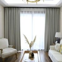 Readymade geometry Chinese blackout curtains panels for Living room