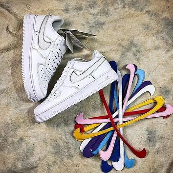 Nike Air Force 1 Low AF1 Travis Scott Velcro Swap Design Shoes