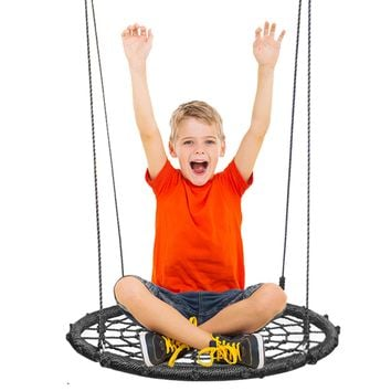 Extra Large 24 Inches Diameter Swing & Spin Set - Complete Set - Includes Tree Swing Hanging Kit