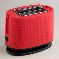 Red Bodum Bistro 2-Slice Toaster - World Market