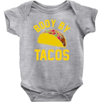 body by tacos funny Baby Onesuit