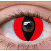 Red Cat Eyes Halloween Contacts | Theatrical Contact Lenses | Special Effect Lenses - ClearlyContacts.ca