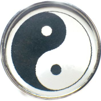 Chinese Yin Yang Symbol 18MM - 20MM Fashion Snap Jewelry Snap Charm New Item