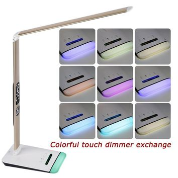 M3 LED Table Lamp with RGB Base and Calendar Table Light Folding Aluminum Alloy + ABS Night Vision Reading Lighting