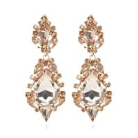 LIGHT PINK TEAR DROP COCKTAIL EARRINGS