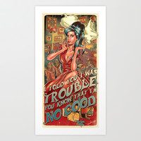 I Told You I Was Trouble - Amy Winehouse Art Print by Renato Cunha