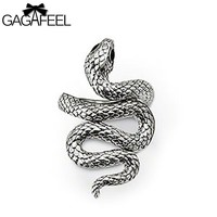 Jewelry Women Unique Snake Rings Gem Crystal Ring
