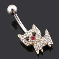 Wholesale Cat Shape Alloy Belly Button Ring - DinoDirect.com