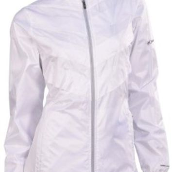 Columbia Women's Omni Heat Frostfecta Windbreaker Jacket-White-Small