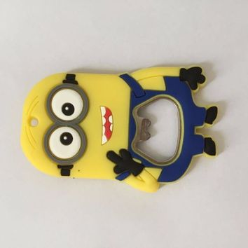 New arrive minions Keychain with bottle opener,Keyrings with  mini portable bottle opener,beer opener keyring