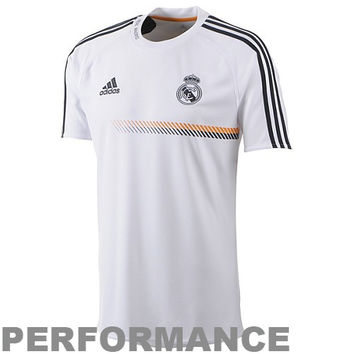 adidas Real Madrid C.F. 2013/14 Training Performance Jersey - White - http://www.shareasale.com/m-pr.cfm?merchantID=7124&userID=1042934&productID=520935375 / Real Madrid CF