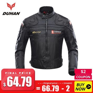 Trendy DUHAN Motorcycle Jackets Men Motocross Off-Road Racing  Body Armor Protective Moto Jacket Motorbike Windproof Jaqueta Clothing AT_94_13