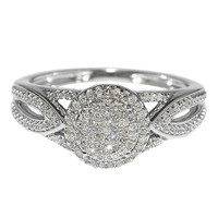 10K White Gold Diamond Engagement Fashion Ring Diamonds (1/4cttw, I/J Color, I2/I3 Clarity)