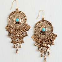 ModCloth Boho Are You Glistening? Earrings