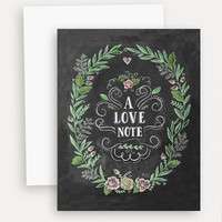 A Love Note - A2 Note Card