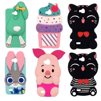 For Huawei Ascend Y6 Pro Cartoon Minions Stitch Minnie Mouse Judy Cupcake 3D Silicone Case For Huawei Honor 4C Pro / Enjoy 5