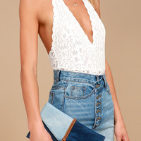 Patch Things Up Blue Denim Clutch