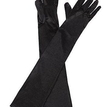 eBoot Opera Gloves 1920s Long Glove Classic Satin Elbow Length Gloves for Women, Adult Size