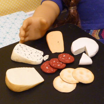 Miniature Assorted Cheese and Crackers for American Girls 1:3