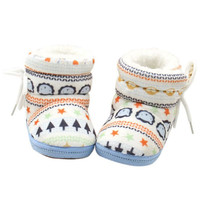 Winter Warm Fleece Soft Soled Crib Shoes Girl Toddlers Snow Boots Sneakers