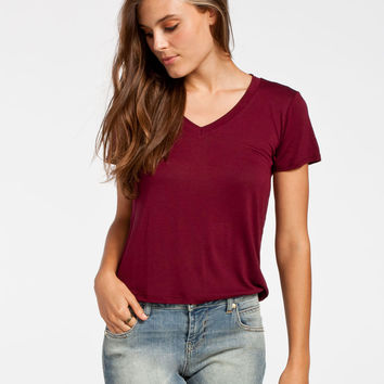 FULL TILT Womens V-Neck Tee 249804320 | Knit Tops & Tees
