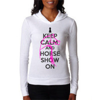 Keep Calm and Horse Show On Thermal Hoodie
