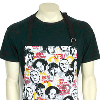 The Three Stooges , Full kitchen apron for men , Adjustable with pockets , Funny cooking decor