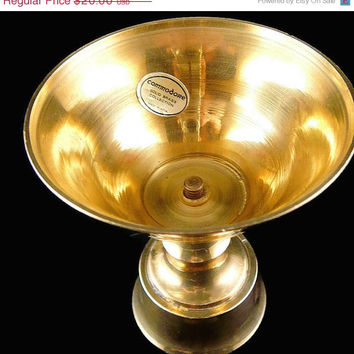 On Sale Vintage, Commodore, Solid Brass Collection, Brass Candle Stick Holder, Commodore Collection