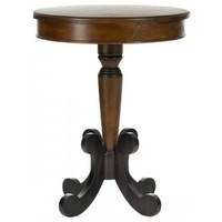Jennifer Side Table in Dark Brown by Safavieh | AMH4106A | Safavieh - Truth In Craft