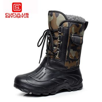 Cuculus High-quality Autumn Winter Military Tactical Boots Men Desert Combat Boots Outdoor Mens Army Waterproof Snow Boots E-1