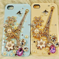 beautiful eiffel tower iphone 4s case, iphone cases iphone cover iphone 4s cover case - flowers iphone 4 case