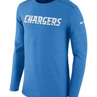 NWT - Mens Nike Los Angeles Chargers Long-Sleeve DRI-FIT T-Shirt - Size XXL & L