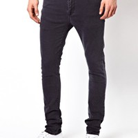 ASOS Super Skinny Jean In Washed Black