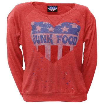 Junk Food - Splatter Juniors Long Sleeve T-Shirt